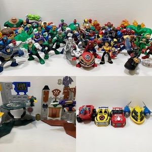 DC | MARVEL | 50 Figures | 4 vehicles | 2 Playsets